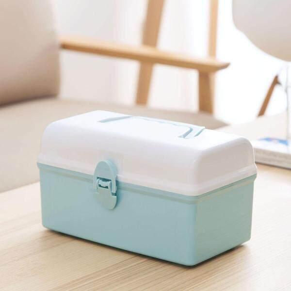 Homenhome Family Medici-ne Cabinets First Aid Kit  Plastic Storage Box with Removable Tray