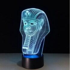 Mới 7 Màu Thay Đổi Đèn LED Trực Quan 3D Đèn Bàn USB Đèn Ngủ Ai Cập Hình Pharaoh
