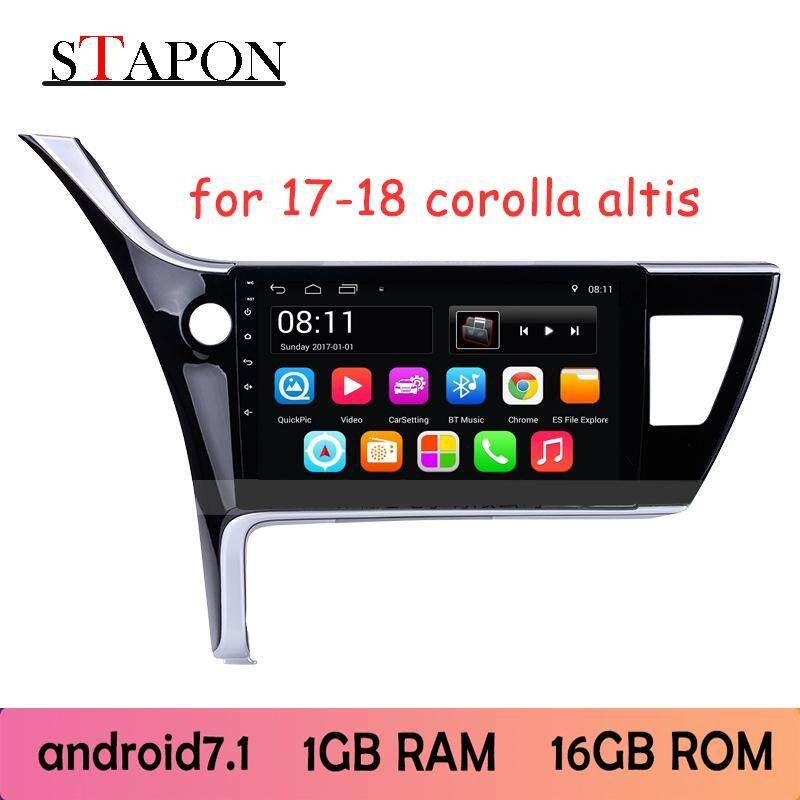 Stapon 10inch 2.5d Android8.1 System For Toyota 2017-19 Corolla Altis Car Head Unit Plug And Play Mp5 Player With Wifi Bluetooth Gps Fm Am Rear View Steering Wheel Control 100a By Stapon Electronic Store.