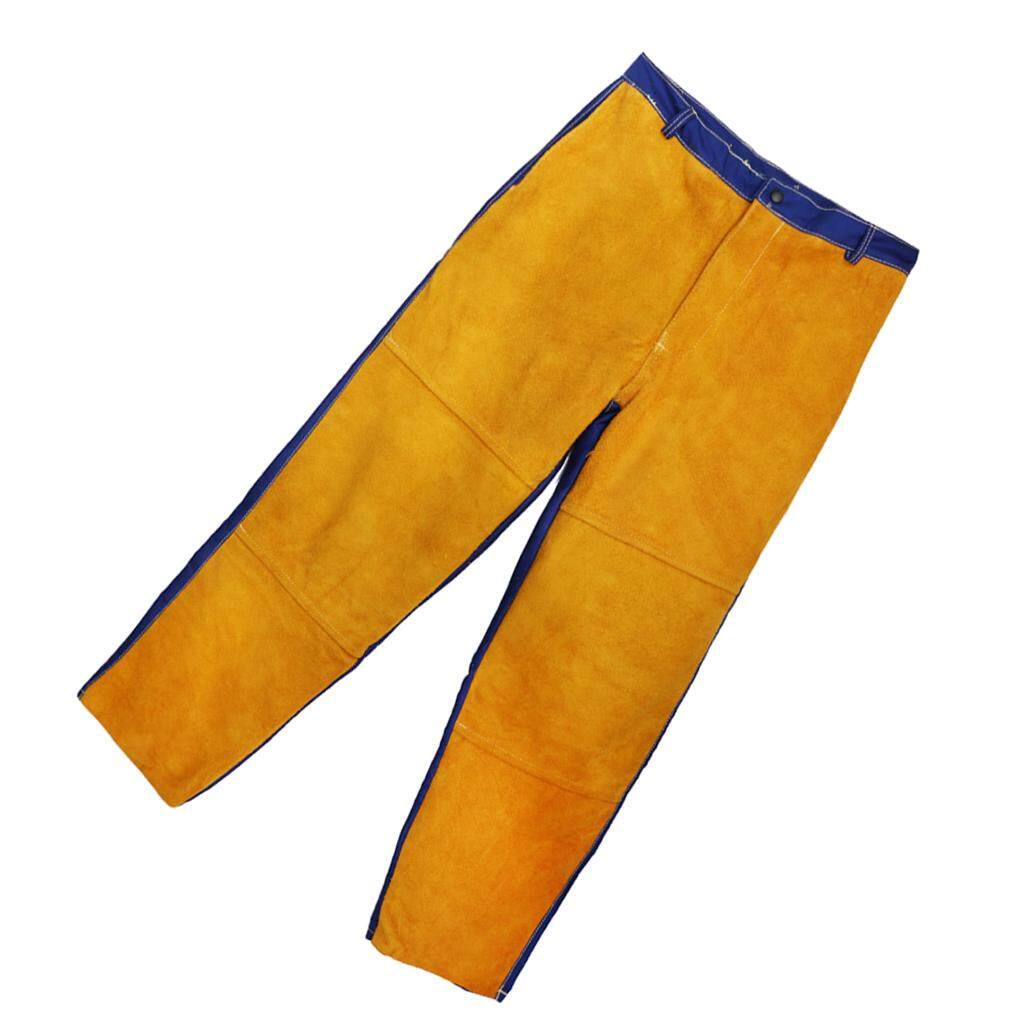 Blesiya Welding Suits Heat/Flame Resistant Heavy Duty Anti-scald Yellow Pants
