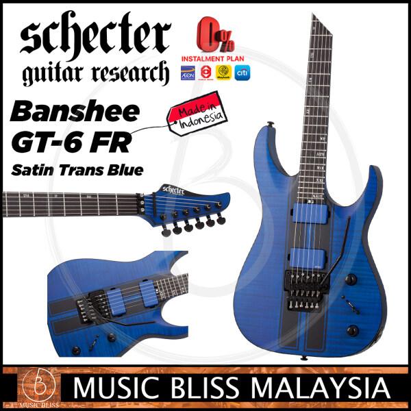 Schecter Banshee GT-6 FR - Satin Trans Blue (MII) Malaysia