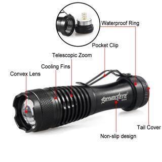 SkyWolfEye 6000 Lm XP-E Q5 14500 Đèn Pin LED Có Thể Phóng To thumbnail