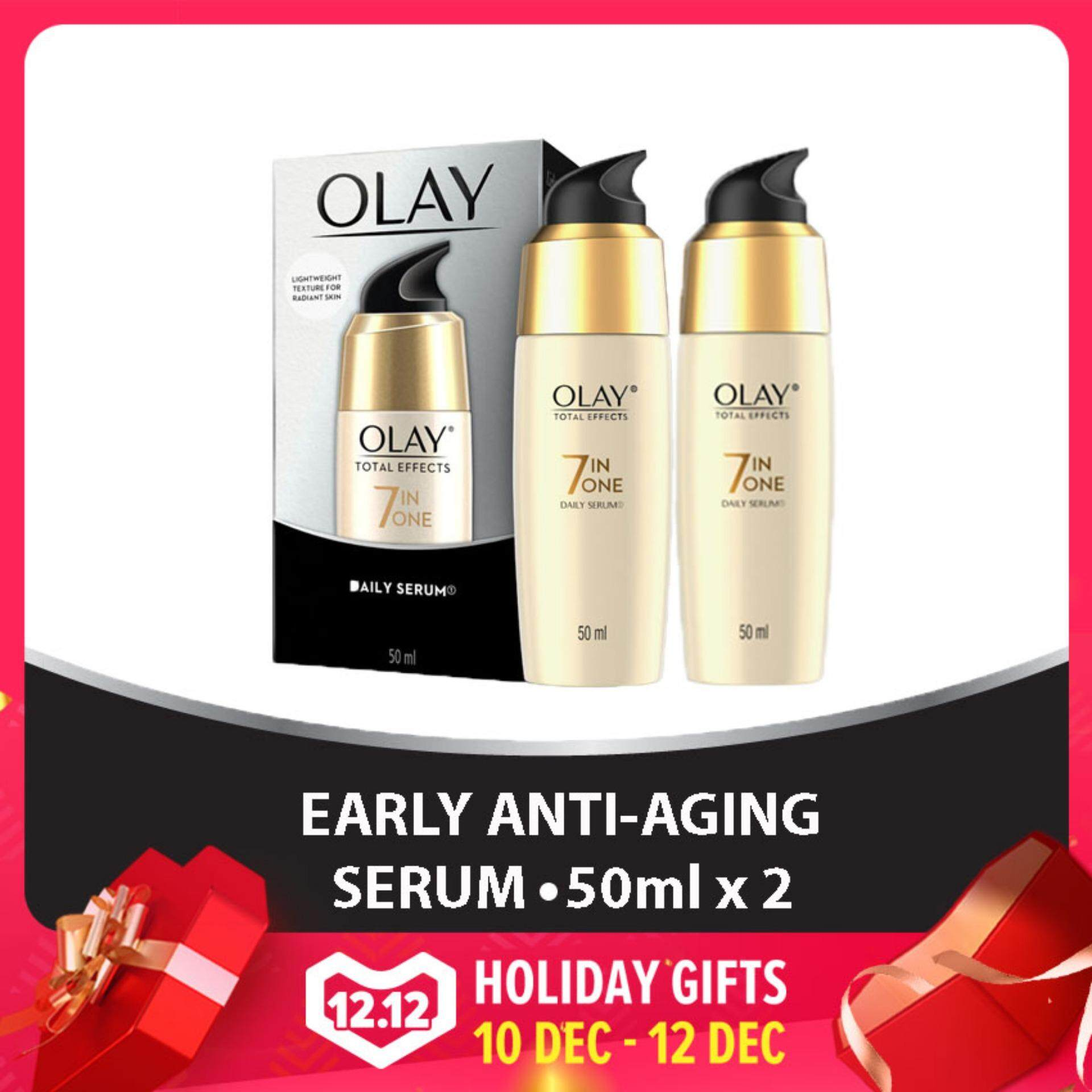 Olay Health Beauty Skincare Price In Malaysia Best Total Effects 7 One Day Cream Touch Of Foundation Spf 15 50gr Anti Ageing Serum 50ml Bundle 2