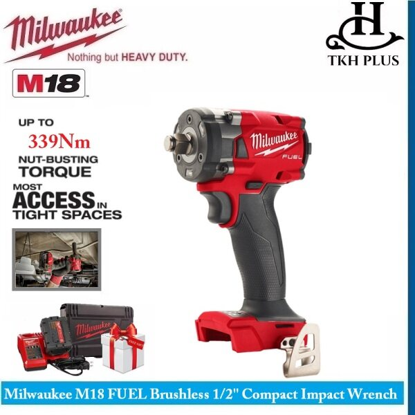 Milwaukee M18 FUEL Brushless Cordless 1/2 Compact Impact Wrench M18 FIW212-501