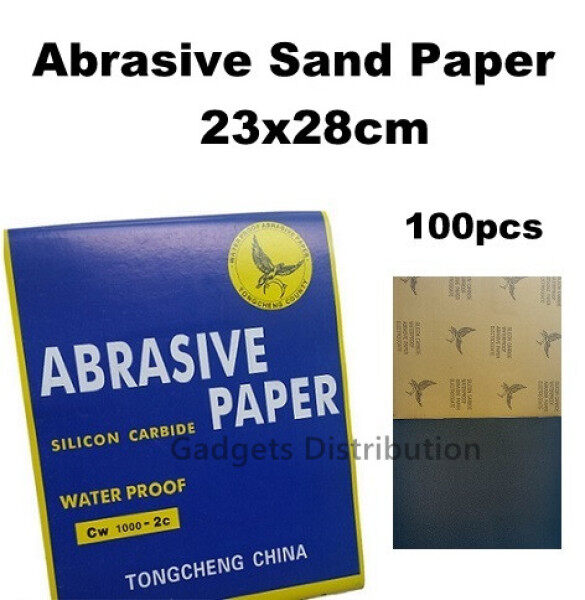 [ 100pcs 2000 grit ] 23x28cm Waterproof Abrasive Sand Paper 2000 Grits 2504.1