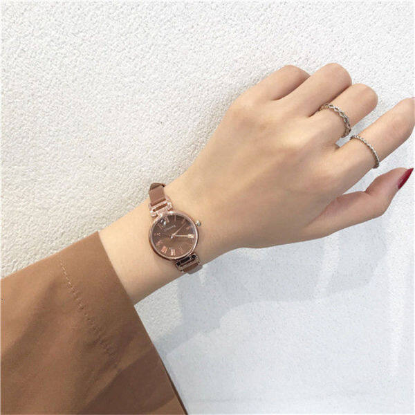 French small watch women ins wind middle school students Korean version simple Sen college wind lady small and delicate temperament O0NM Malaysia