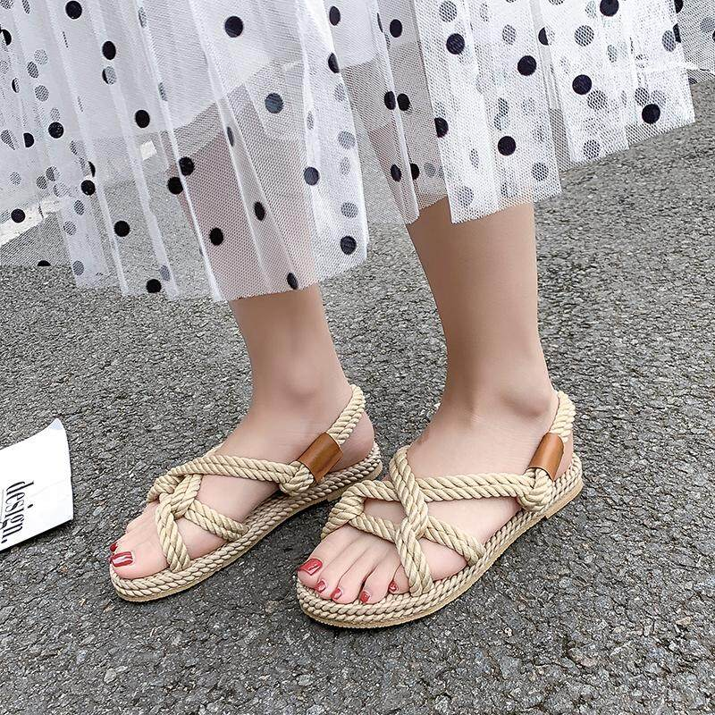 0f4ac29b1 Summer New Sandals Ladies Beach Shoes Wading Shoes Outdoor Open Toe Casual Shoes  Cross ith flat