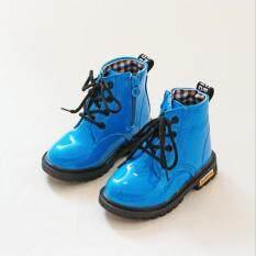 Boots dành cho trẻ em Giày Martin Boots chống thấm nước cho trẻ em Mùa đông Thường bằng phẳng Bơm Boots Giày cô gái Boots