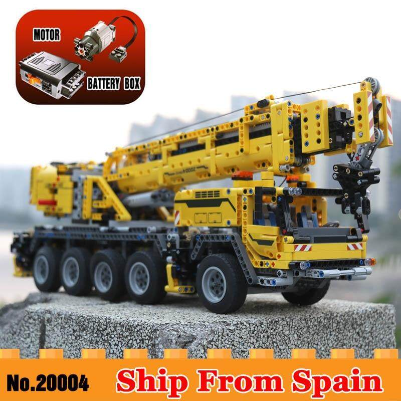20004 Technic Series Motor Power Mobile Crane MK Model Building Blocks 42009