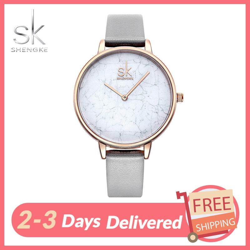 SK Business Watch for Women Classic Fashion Simple Casual Leather Strap Round Dail Waterproof Quartz Watches Rose Gold Jam Tangan Wanite Malaysia