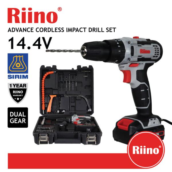 Riino Advance Cordless Impact Drill Set Dual Gear Speed Pro Screwdriver Tools Set (UMCD1516)