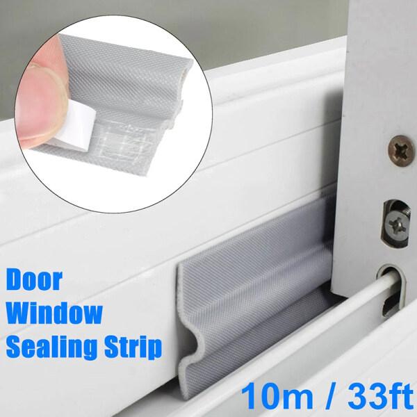 2meter/4meter/6meter  Self Adhesive Window Seal Strip SoundProof and Windproof Nylon Cloth Foam Door Weather Rubber Strip for Sliding Windows