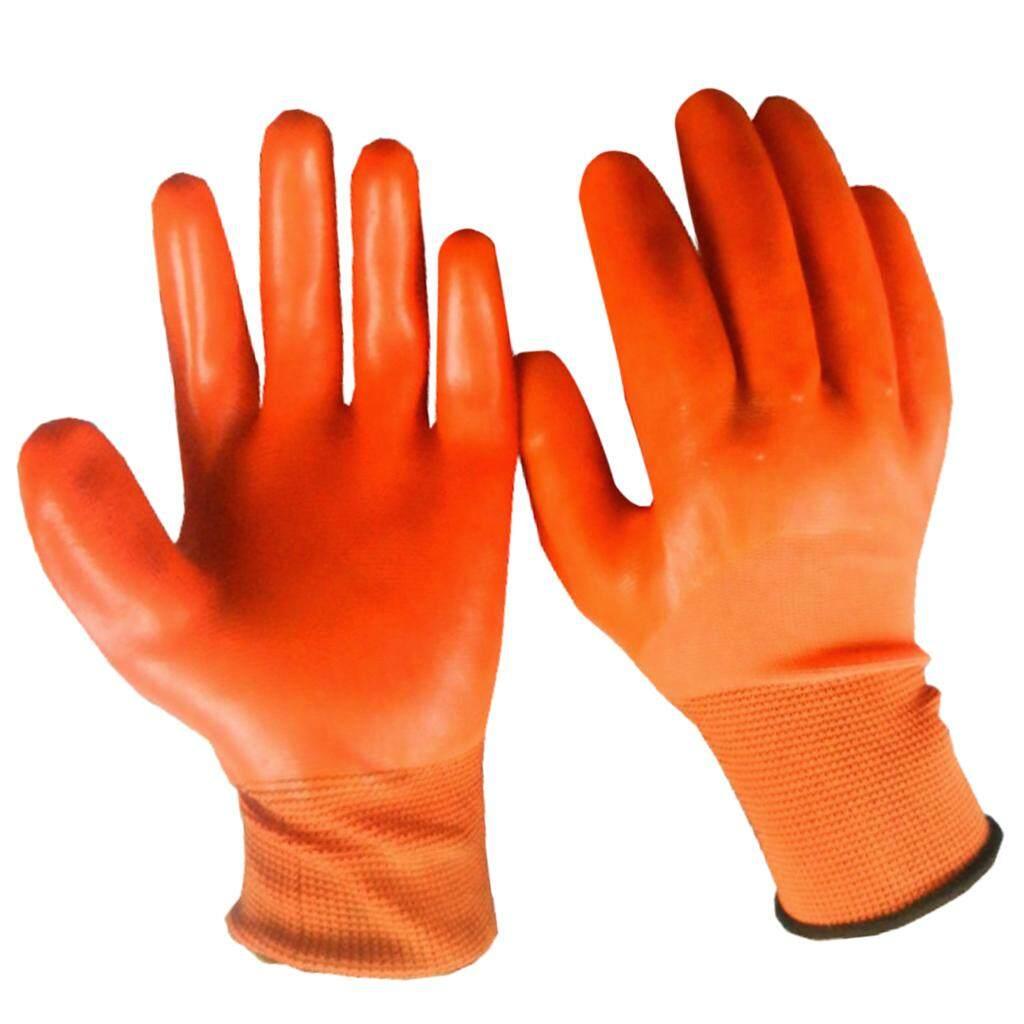 Fenteer 6 Đôi Nylon PVC Bảo Vệ An Toàn Công Việc Găng Tay-Đa năng, Mặc Được