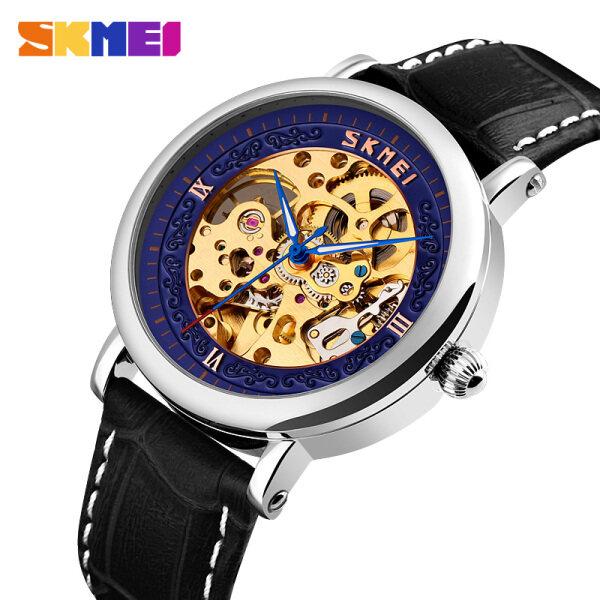 SKMEI Men Automatic Mechanical Watch Leather Fashion Casual Waterproof Wrist Watches For Men Man 9229 Malaysia