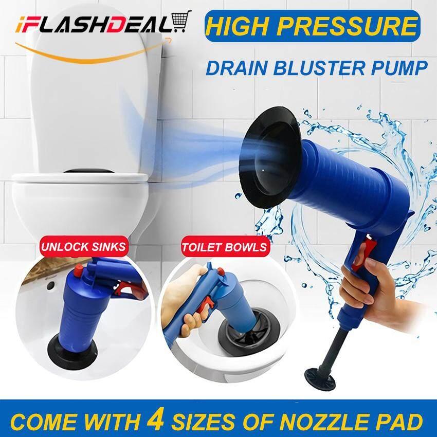 iFlashDeal Toilet Plunger, Air Drain Blaster, Pressure Pump Cleaner, High Pressure Plunger Opener Cleaner Pump for Bath Toilets, Bathroom, Shower, Kitchen Clogged Pipe Bathtub