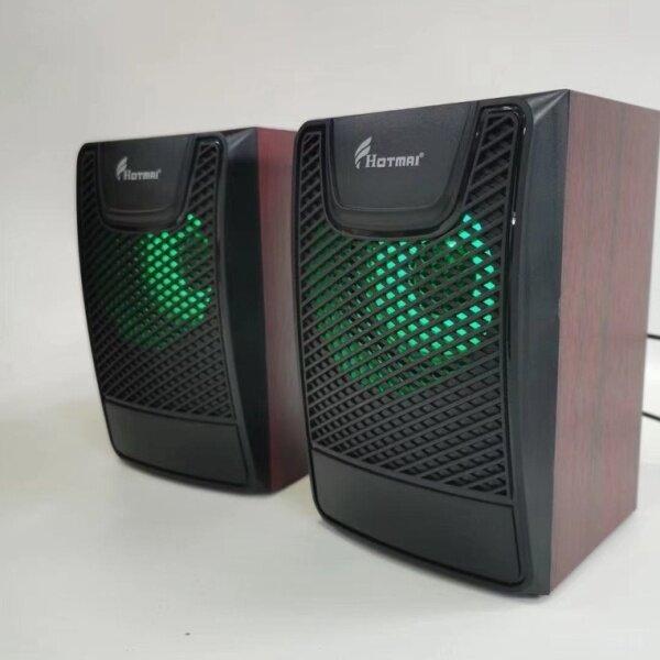 USB Speaker Laptop Desktop Stereo Speaker PC Computer Speaker HOTMAI Gaming Speaker with RGB LED Light ICON QUATRO Malaysia
