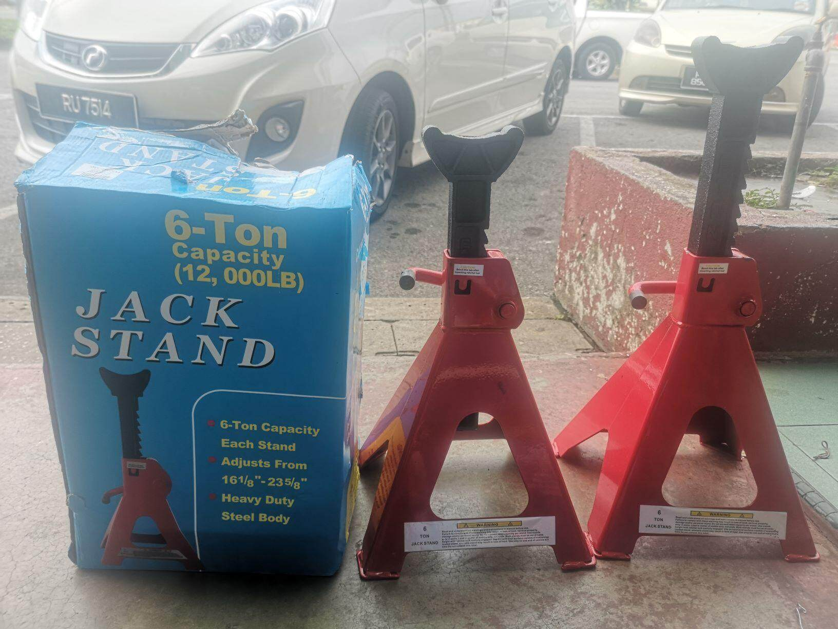 [JAPAN DESIGN] 6 Ton Heavy Duty Strong Jack Stand Car 1 Pair 2 Pcs