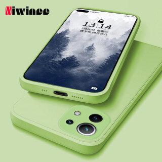 NIWINEE, Ốp Điện Thoại Xiaomi Mi 11 Lite Xiaomi Mi 11 Lite 5G Chất Lỏng Cạnh Thẳng Ống Kính Bọc Silicon Ốp Điện Thoại Mềm Sáng Tạo Cá Tính Đơn Giản Siêu Mỏng Chống Rơi Mới thumbnail