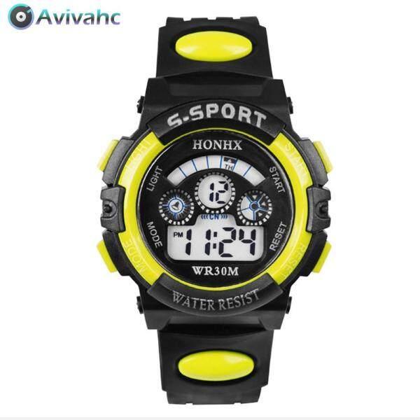 Nơi bán Avivahc Đồng hồ điện tử thể thao nam chống nước đa năng PU thời trang trẻ em