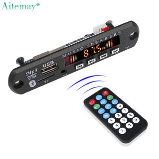 Aitemay Bo Mạch Giải Mã MP3 WMA Bluetooth 5.0 DC 8V-16V Mô-đun Âm Thanh Không Dây USB TF FM Có Điều Khiển Từ Xa thumbnail