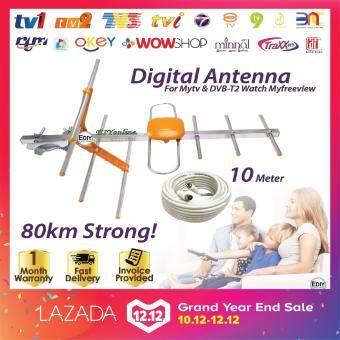 Tawaran Panas DIGITAL TV ANTENNA AERIAL HD-202 free CABLE 10