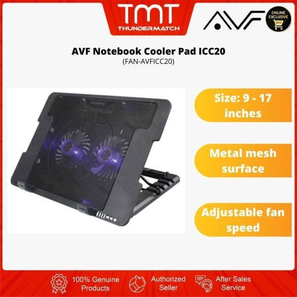 AVF Notebook Cooler Pad ICC20|Adjustable Fan Speed|6 Month Warranty Malaysia
