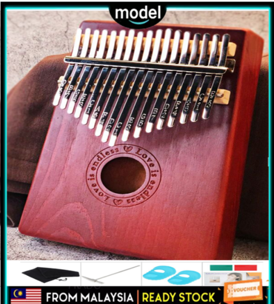 【Warranty 1 Year】Kalimba Thumb Piano Acoustic Finger Piano Music Instrument Mahogany Wood 17 Keys Malaysia