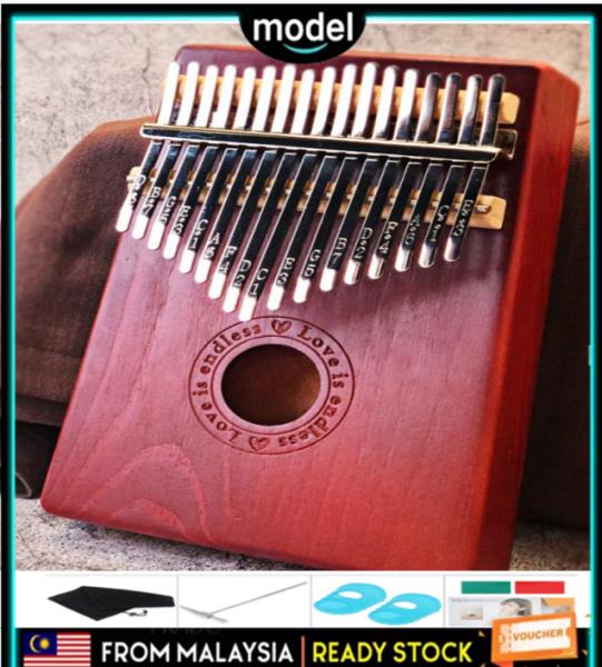 【Warranty 1 Year】Kalimba Thumb Piano Acoustic Finger Piano Music Instrument Mahogany Wood 17 Keys Malaysia
