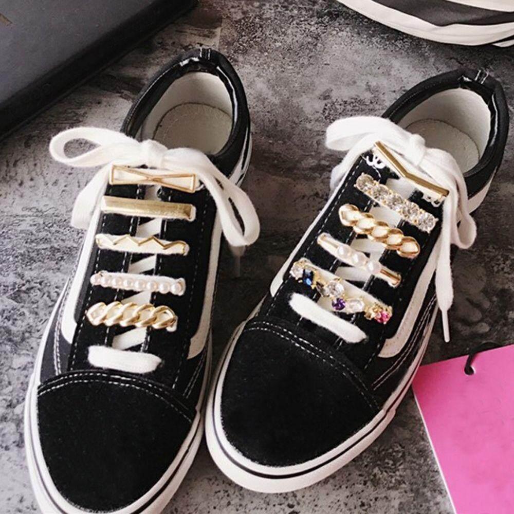 Giá bán 1 * Ren Cá Tính Đẹp Dây Giày Giày Nữ Phụ Kiện Trang Trí Trang Trí Khóa Dây Giày Buộc Dây Giày Khóa Giày Kẹp
