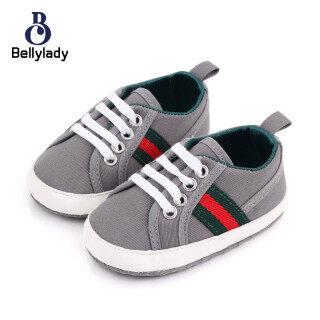 BellyLady 1 Đôi Giày Em Bé, Giày Trẻ Tập Đi Đế Mềm Nhiều Màu Thoáng Khí Chống Trượt thumbnail