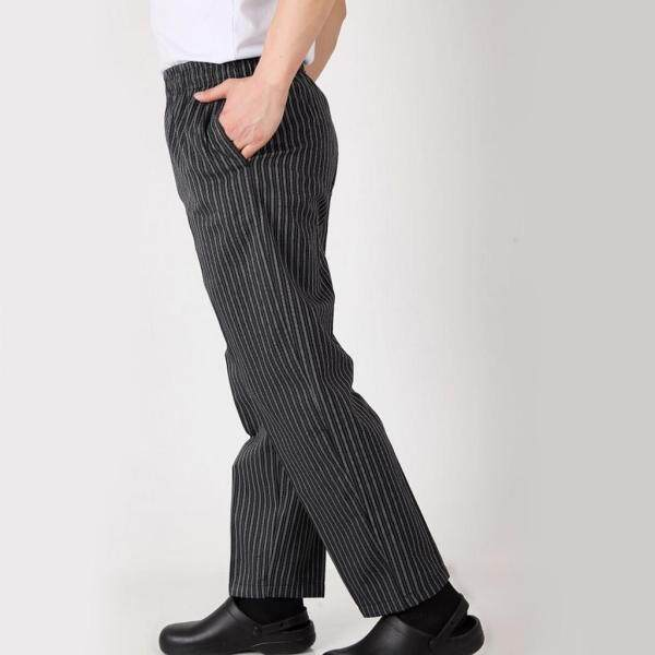 Blesiya Elastic Restaurant Cafe Chef Waiter Pants Trousers Uniform Accs