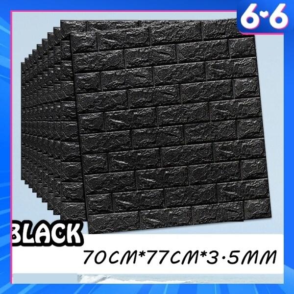 (1 PCS) 70X77 3D WallPaper Brick Wall Stickers PE Foam Waterproof Self Adhesive Wall paper Pelekat Dinding Batu Bata