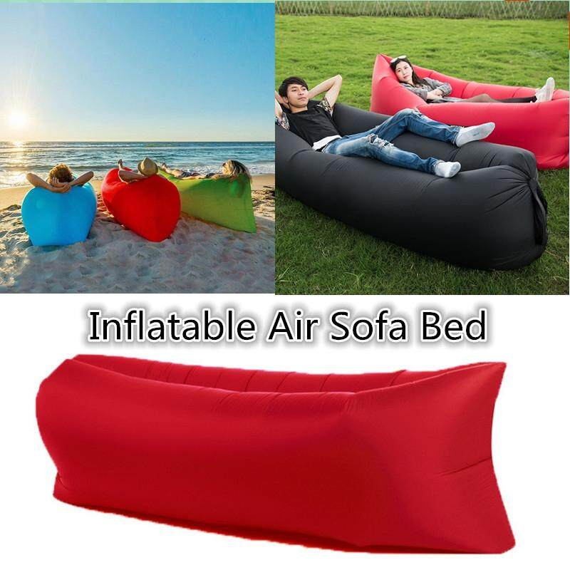 Y-Crown Portable Camping Lounger Air Sofa Inflatable Sleeping Bag Beach Hangout Lazy Bed