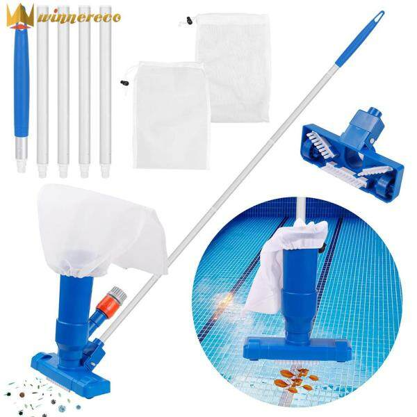 Swimming Pool Vacuum Cleaner Portable Cleaning Tool Kit Pond Fountain Brush