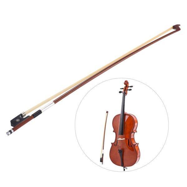 Cân Bằng Tốt Hình Bát Giác Brazilwood 1/2 Cello Bow Lông Ngựa Tròn Dính Gỗ Mun