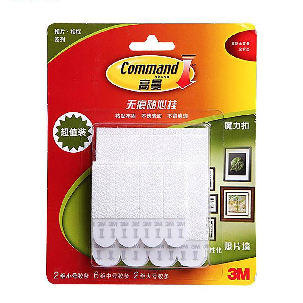 Vanker-20pcs Picture Frame Hanging Hook Command Damage-Free Hanging Strips Wall Sticker