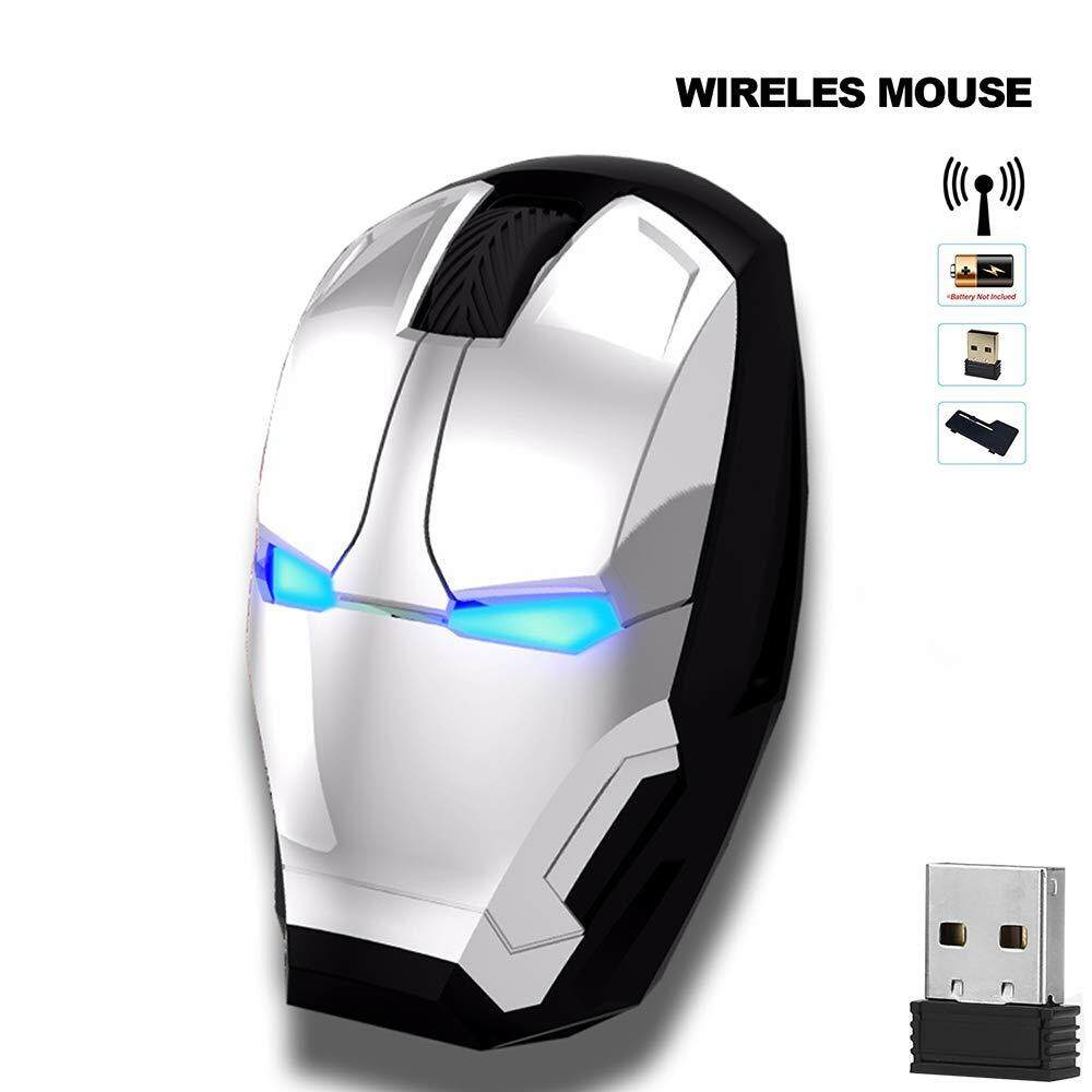 New Arrival Iron Man Mouse Wireless Mouse Gaming Mouse Gamer Computer Mice Button Silent Click mouse Malaysia