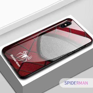 Ốp Điện Thoại Honinga Dành Cho Xiaomi Mi 8 Pro Ốp Lưng Marvel Avengers Superhero Ironman Người Nhện Ốp Lưng Bằng Kính Cường Lực Chống Sốc Ốp Bảo Vệ Bằng TPU thumbnail
