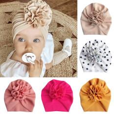 I Love Daddy&Mummy mũ em bé hình hoa lớn dễ thương khăn xếp cho trẻ sơ sinh màu trơn mềm mại mũ beanie quấn đầu bé gái nhiếp ảnh đạo cụ – INTL