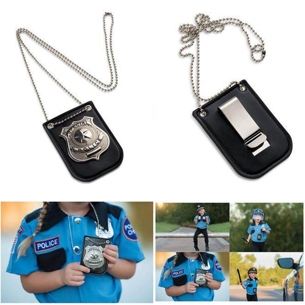 Dress Up Pretend Play America Police Special Badge With Chain And Belt Clip image
