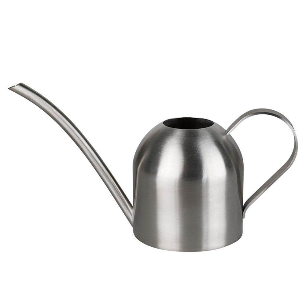 efuture Polished Long Mouth Sprinkling Pot Stainless Steel Watering Can Modern Style Garden Plant Flower Watering Pot with Ergonomic Handle for Houseplant Patio Plants (500ml)