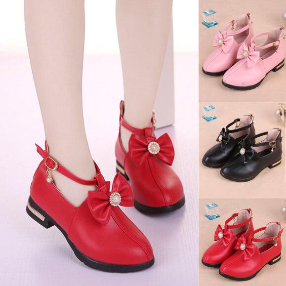 Giày trẻ em cho bé gái giày công chúa giày đơn màu đen đế mềm chống trượt phong cách Hàn Quốc thời trang mới 2020 giá rẻ