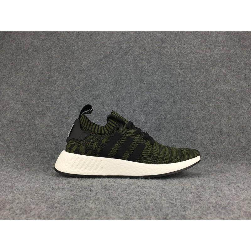 ยี่ห้อไหนดี  ลำปาง  Ready_Stock _ADIDAS_NMD_Peimeknit_Clover_Leopard_Knitting_Running_Shoes_40-44