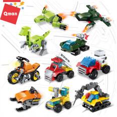 Đồ chơi khối lắp ghép mô hình 3 trong 1 xe hơi Qman, đồ chơi số 2102 (hình ngẫu nhiên), quà tặng cho trẻ em