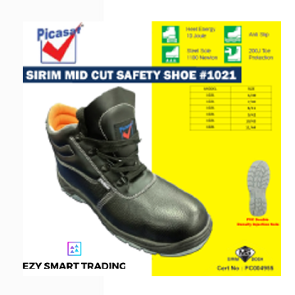 PICASAF ANKLE SAFETY SHOE MID CUT (SIRIM Approved) PCS1021
