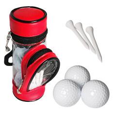 Túi Đựng Bóng Golf Và Áo Thun, Hộp Đựng Đồ Với 3 Quả Bóng Và 3 Bộ Áo Thun