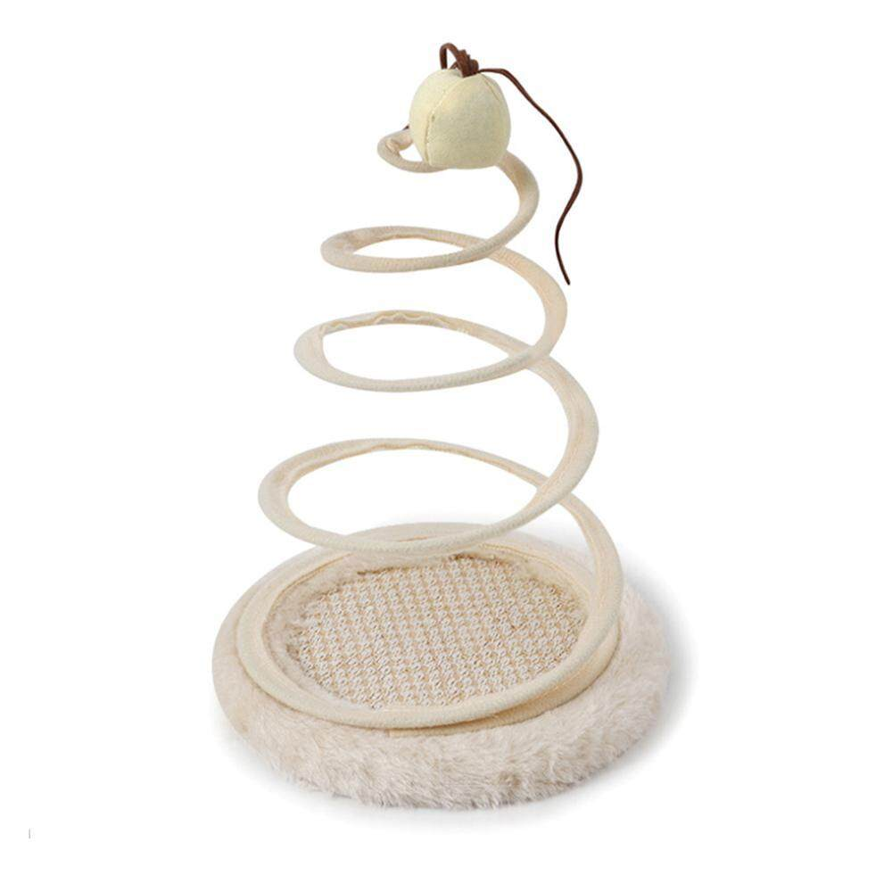 C-S Cat Toys.spring Spiral Cat Toy With Mouse Pet Scratch Board For Cat Kitty Kitten By Crazy-Store.