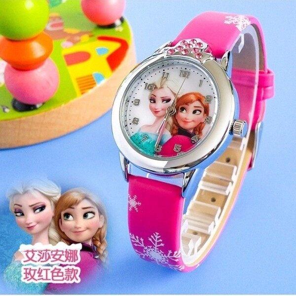 ASE Ready Stock Jam Tangan Kanak-Kanak Kids/Childrens Sport Casual Watches Frozen Cartoon Quartz Watches Kids Boys Girls + watch box Malaysia