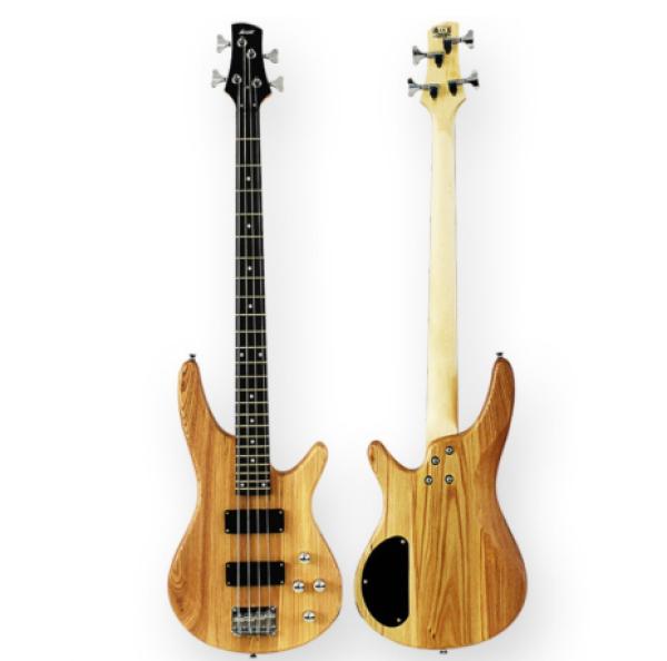 4 String Ibanez Shape Bass Guitar Package / Bass Guitar Combo(Natural) Malaysia
