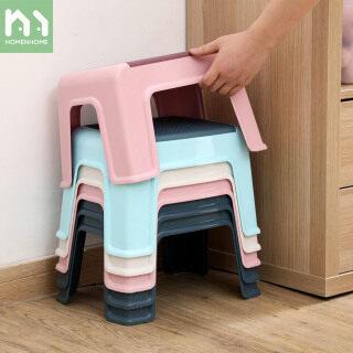 Homenhome Ghế Đẩu Chống Trượt Ghế Đẩu Nhỏ Cho Phòng Tắm Trẻ Em, Giày Nhựa Gia Dụng Ghế Thay Đồ thumbnail